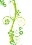 Diseño floral verde Fotos de archivo