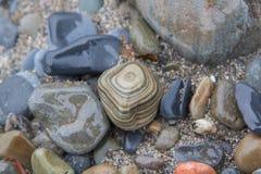 Diseño formado hecho de piedra Foto de archivo libre de regalías