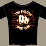 Diseño fresco de la plantilla de la camisa del club de la lucha del vector Imagen de archivo