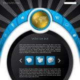 Diseño fresco del modelo del Web site del nuevo concepto ilustración del vector