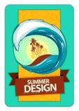 Diseño fresco del verano Fotografía de archivo