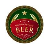 Diseño fresco hermoso de la etiqueta de la cerveza Fotos de archivo libres de regalías