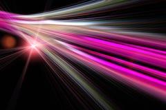 Diseño futurista de la tecnología con las luces Fotos de archivo