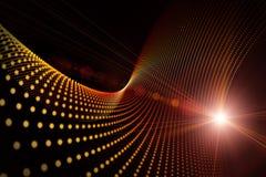 Diseño futurista del fondo de la onda de la tecnología Fotografía de archivo