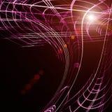 Diseño futurista del fondo de la onda de la tecnología Imagenes de archivo