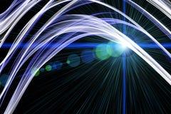 Diseño futurista del fondo de la onda de la tecnología Fotos de archivo libres de regalías