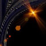 Diseño futurista del fondo de la onda de la tecnología Imagen de archivo libre de regalías