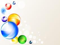 Diseño futurista del fondo geométrico multicolor del vector 3d Bolas gráficas coloridas Círculos digitales abstractos de la forma stock de ilustración