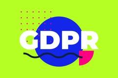 Diseño geométrico abstracto de regla de la protección de datos general foto de archivo libre de regalías