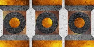 Diseño geométrico abstracto del fondo Formas geométricas con una textura natural Diseño retro de la etiqueta, imprimible Imagen de archivo libre de regalías