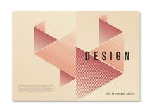 Diseño geométrico abstracto moderno de la cubierta del tamaño a4 para el maga del folleto libre illustration