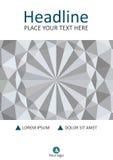 Diseño geométrico blanco de la cubierta del fondo de la textura 3d A4 Vector Fotos de archivo