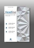 Diseño geométrico blanco de la cubierta del fondo de la textura 3d A4 Vector Imagen de archivo