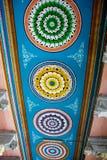 Diseño geométrico colorido, Rameshwaram imagen de archivo