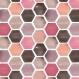 Diseño geométrico de la acuarela Foto de archivo libre de regalías