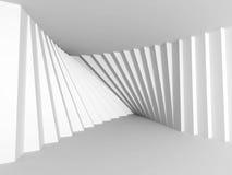 Diseño geométrico de la arquitectura del modelo Fondo blanco abstracto Fotografía de archivo