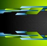 Diseño geométrico de la tecnología brillante del contraste ilustración del vector