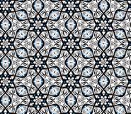 Diseño geométrico de la vibración de la ilusión óptica Modelo inconsútil de los colores blancos y negros de Pentágono Fotografía de archivo libre de regalías