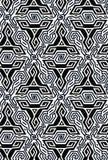 Diseño geométrico de la vibración de la ilusión óptica Modelo inconsútil de los colores blancos y negros de los triángulos Fotos de archivo