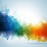 Diseño geométrico del fondo del vector abstracto.