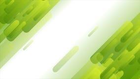 Diseño geométrico del movimiento de la tecnología verde clara del extracto stock de ilustración