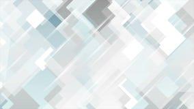 Diseño geométrico mínimo del movimiento de la tecnología del gris azul almacen de video