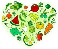 diseño Gluten-libre y bajo de la dieta de FODMAP: colorido y equilibrado stock de ilustración