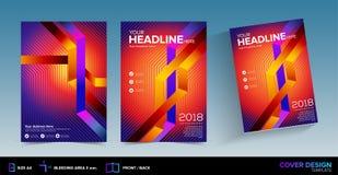 Diseño gráfico abstracto de la cubierta de libro con área de corrimiento en listo del vector para la impresión Imágenes de archivo libres de regalías
