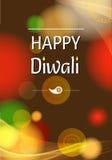 Diseño gráfico de Diwali Fotografía de archivo