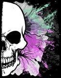Diseño gráfico de la camiseta de la acuarela del cráneo libre illustration
