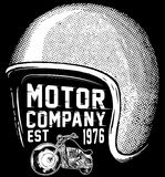 Diseño gráfico de la camiseta del club de la motocicleta de los jinetes de Nueva York Fotos de archivo