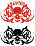 Diseño gráfico de la camiseta del cráneo Fotos de archivo