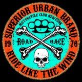 Diseño gráfico de la camiseta de la tipografía de la motocicleta libre illustration