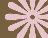 Diseño gráfico de la flor retra Fotos de archivo