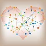 Diseño gráfico de la información abstracta moderna - líneas de corazón plantilla Imagen de archivo libre de regalías