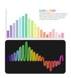 Diseño gráfico de la información colorida del equalizador Fotografía de archivo libre de regalías