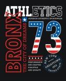 Diseño gráfico de la tipografía de la camiseta atlética de Bronx stock de ilustración