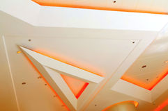 Diseño gráfico de las luces de techo Fotografía de archivo