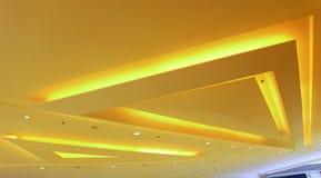 Diseño gráfico de las luces de techo Imagenes de archivo