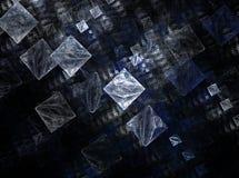 Diseño gráfico del arte de los cubos del extracto de Fracral Fotografía de archivo libre de regalías