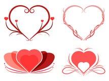 Diseño gráfico del corazón abstracto stock de ilustración