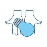 Diseño gráfico del ejemplo del vector de la energía ligera de bulbo Imagen de archivo libre de regalías