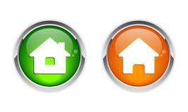Diseño gráfico del icono casero del botón Imagen de archivo libre de regalías