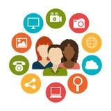 Diseño gráfico del medios entretenimiento social Imágenes de archivo libres de regalías