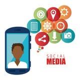 Diseño gráfico del medios entretenimiento social Imagen de archivo
