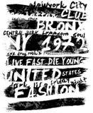 Diseño gráfico del vector de la camiseta del hombre del lema del vintage Foto de archivo