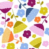 Diseño gráfico floral colorido del modelo fotografía de archivo libre de regalías