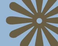 Diseño gráfico floral retro Foto de archivo libre de regalías