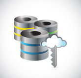 Diseño grande del ejemplo de los datos de la base de datos de servidor Fotos de archivo