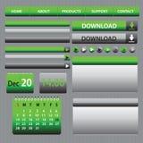 Diseño Gray Green de los elementos del web Imagen de archivo